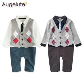 【baby童衣】菱格背心加領帶學院風格 假三件式連身衣 37022(共二色)