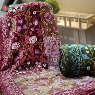 【大阪西川】進口雙層毛毯(雙人-42650紅)