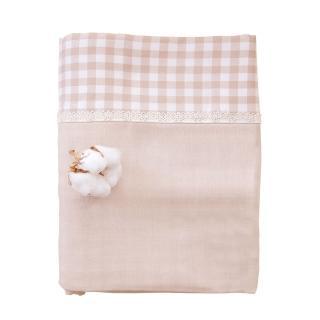 【azure canvas藍天畫布】100%有機棉/ 柔紗系列/嬰兒被套(144x109cm)