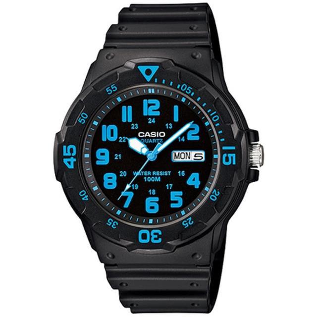 【CASIO 卡西歐】潛水風格潮流指針錶(MRW-200H-2B)