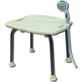 【COLOR】經典咖啡鋁合金洗澡椅(免工具組裝)