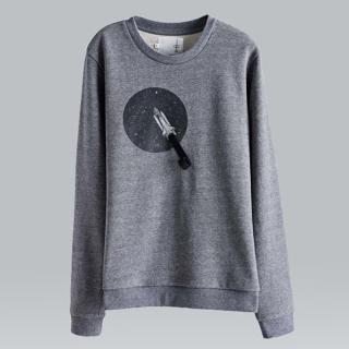 【摩達客】韓國進口設計品牌DBSW火箭上太空 圓領長袖T恤(現貨)