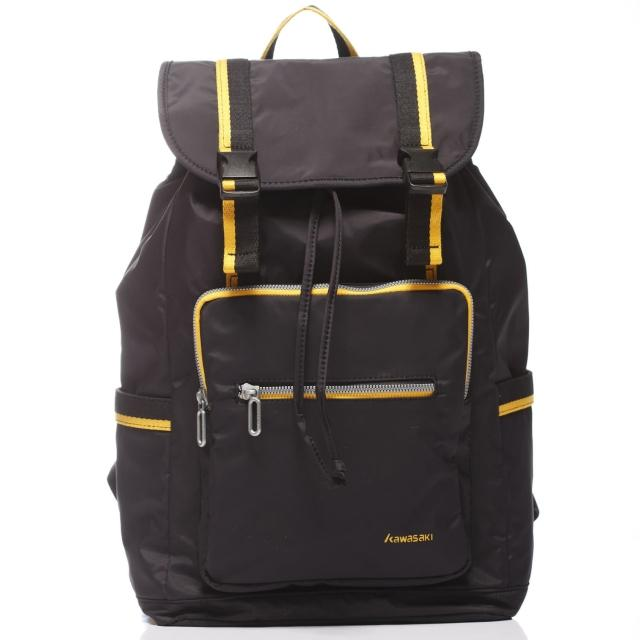 【KAWASAKI】休閒平板電腦背包(黑_大)