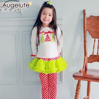 【baby童衣】套裝 聖誕派對點點紗裙褲 47065