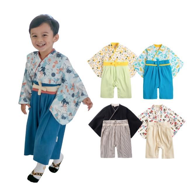 【baby童衣】兒童套裝 寶寶連身衣 男和服套裝 假兩件日式經典造型和服 37303(共3色)