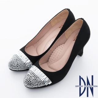 【DN】美人心機 華麗亮片水鑽麂皮高跟鞋(黑)
