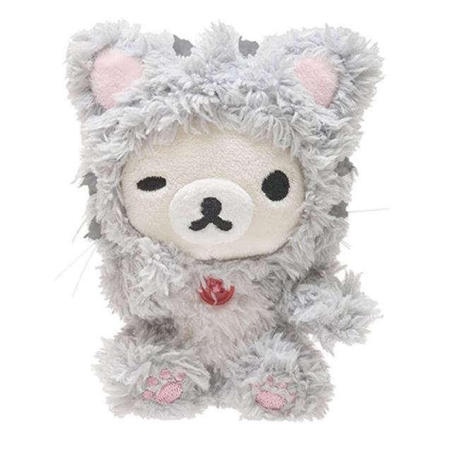 【San-X】拉拉熊悠閒貓生活系列毛絨手掌小公仔(懶妹)