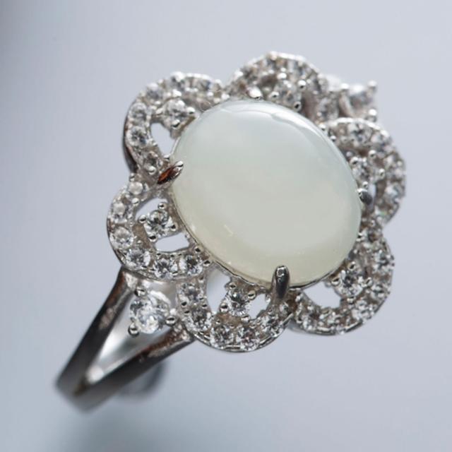 【金玉滿堂】雅緻名媛和闐白玉珠寶戒指