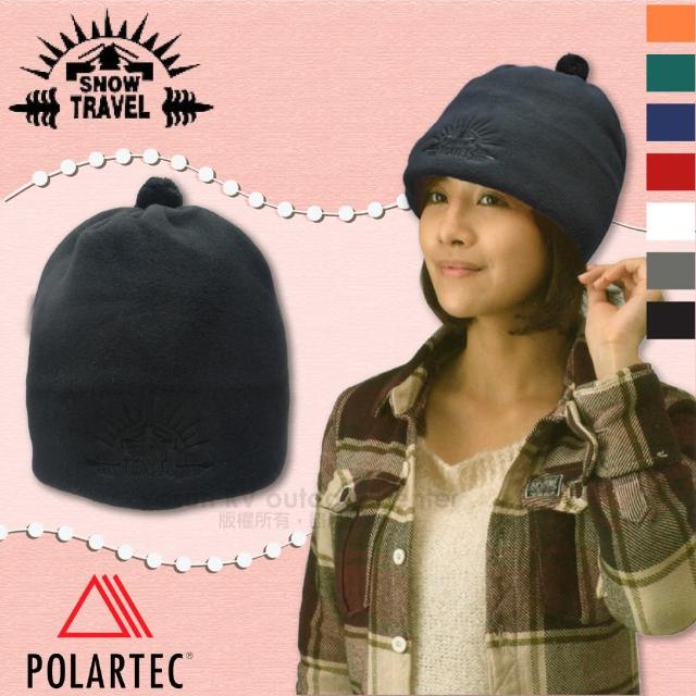 【SNOW TRAVEL】POLARTEC 輕量透氣刷毛保暖帽.輕便防風帽.遮耳帽(AR-13 神秘黑)