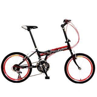 【FUSIN】獨賣款 F308 20吋24速搭配彩色管線鋁合金輪圈高CP值折疊車(艷麗六色任選)