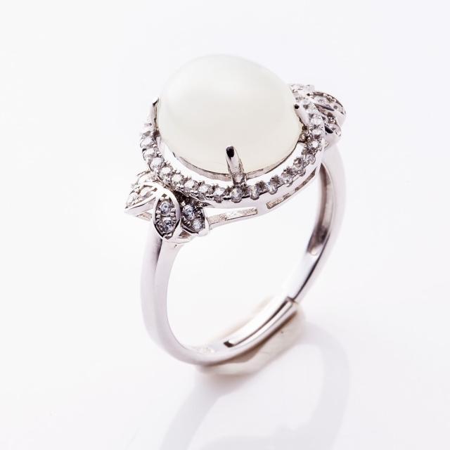 【金玉滿堂】璀璨和闐白玉珠寶戒指