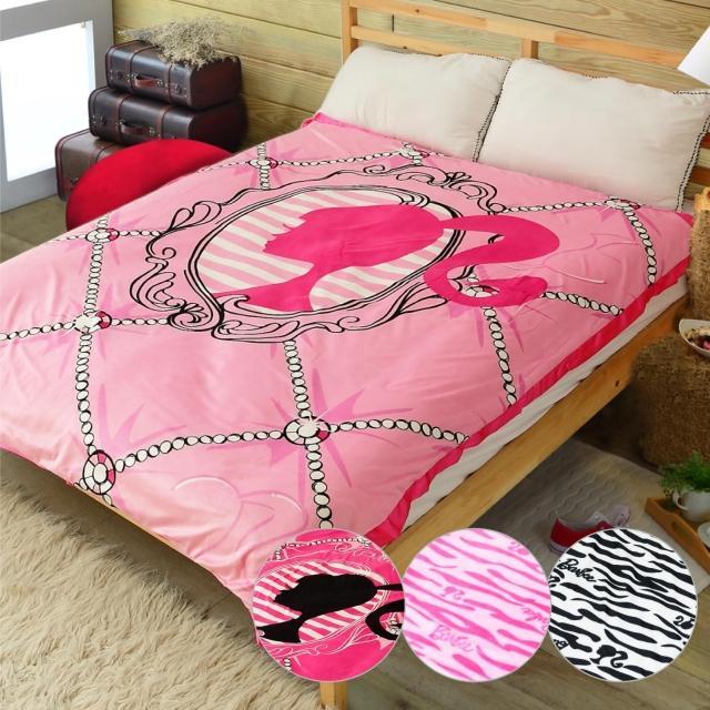 【Barbie】《瘋狂大降價》極奢華北極熊蜜絨雙拼毯(4款)