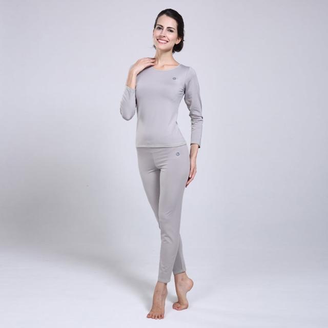 【PUSH!機能面料】POLARWARM+萊卡完美比例運動保暖長袖內衣褲衛生衣褲(圓領女款)