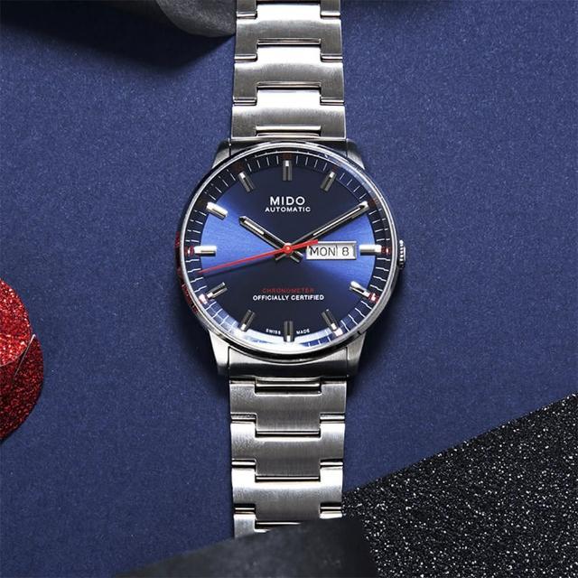 【MIDO】Commander II 天文台認證機械腕錶-藍/40mm(M0214311104100)