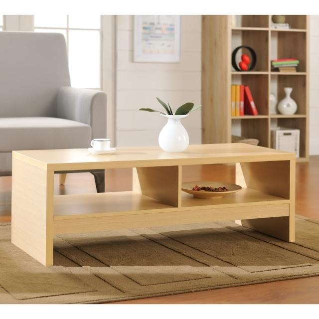 【FUN生活】DIY經典設計優雅大茶几桌/邊桌(白橡色)