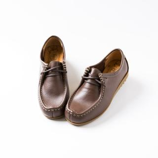 【ALAIN DELON】MIT手工真皮女休閒鞋W7432(3色 藍色 咖啡色 黃色)