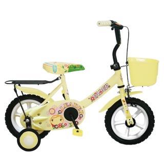 【Adagio】12吋酷寶貝童車附置物籃(米色)