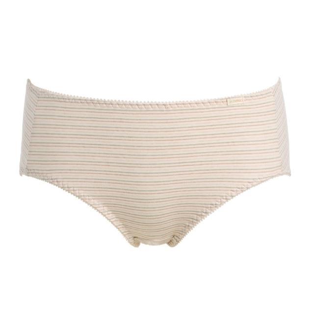 【黛安芬】eco chic裸紗原棉生理平口褲M-EL(條紋裸)