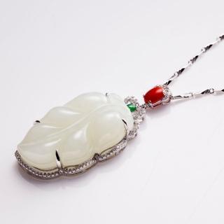 【金玉滿堂】一葉致富和闐羊脂白玉項鍊