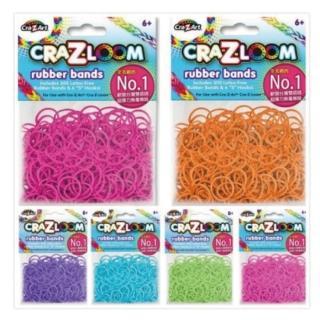 【美國Cra-Z-Art】Cra-Z-Loom彩紅圈圈編織 橡皮筋補充包B款(6包  共1800條)