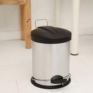 【ikloo宜酷屋】不鏽鋼腳踏垃圾桶-5L(台灣製造)