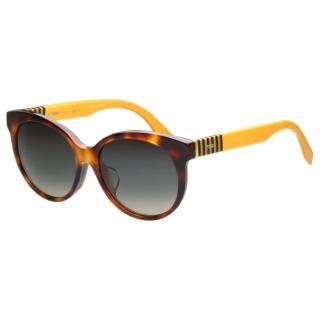 【FENDI】-東方版 時尚太陽眼鏡(琥珀色)