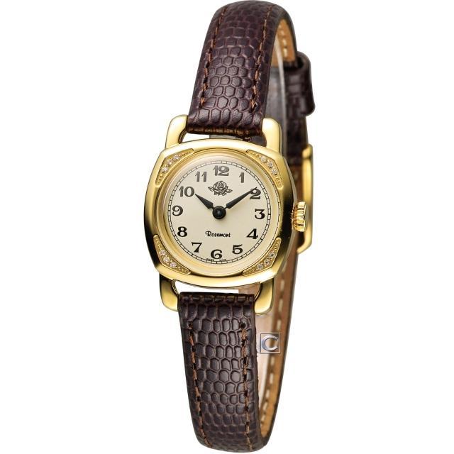 【Rosemont】玫瑰錶迷你版玫瑰系列 時尚腕錶(TRS-029-01-BR)