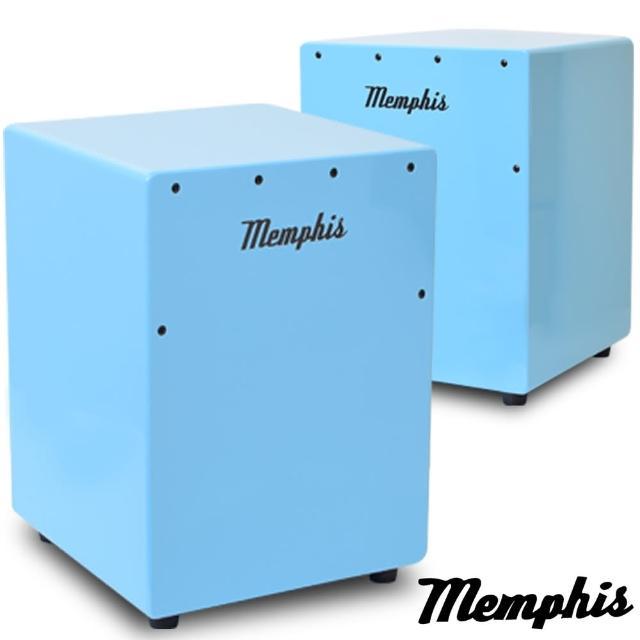 【拓弦音樂】Memphis 雙效果吉他響線木箱鼓/鈴鐺效果/送專用背袋/藍色(CA011-02/藍色)