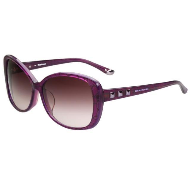 【Juicy Couture】-鉚釘風 太陽眼鏡(粉紫色)