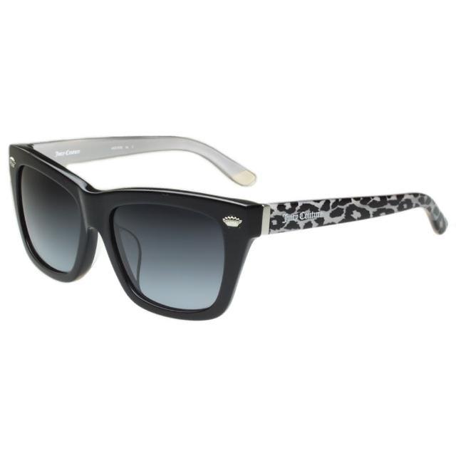 【Juicy Couture】-豹紋個性粗版 太陽眼鏡(黑色)