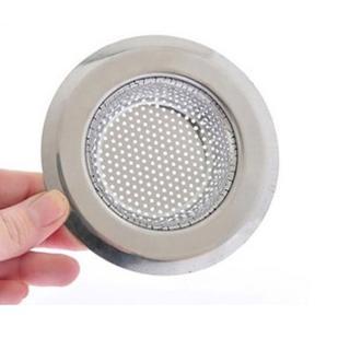 【PUSH! 廚房用品】外徑7CM內徑4.3CM深度1.5CM密合式不鏽鋼流理台水槽濾網(HD1018)