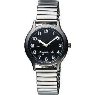 【agnes b.】25周年紀念復刻經典腕錶-黑x灰(BH8018X1)