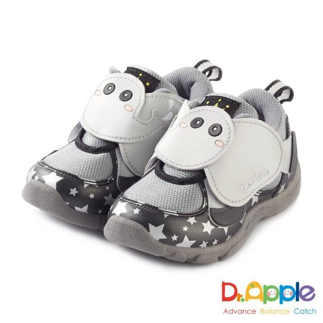 【Dr. Apple 機能童鞋】噴水大象飛越星空閃亮亮童鞋(黑)