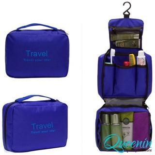 【DF Queenin】韓版出遊旅行專用盥洗包化妝包-共4色