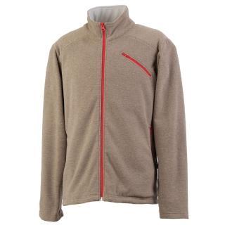 【Vital Silver 銀盾】男AIRPLUS 仿羊絨保暖剪接外套(卡其色)