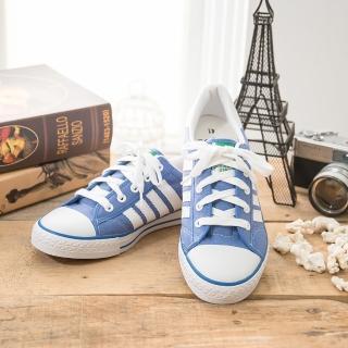 【中國強】MIT 經典休閒帆布鞋CH81(藍)