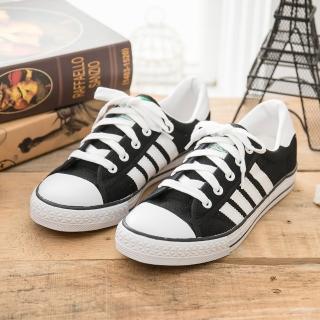 【中國強】MIT 經典休閒帆布鞋CH81(黑)