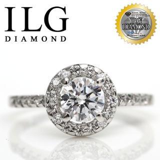 【ILG鑽】頂級八心八箭擬真鑽石戒指-巴黎名款鑽戒RI008 主鑽75分 異國風情迷人風格(白K金色)