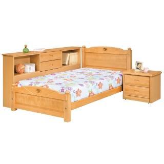 【顛覆設計】依拉檜木色3.5尺單人床組(不含床墊)