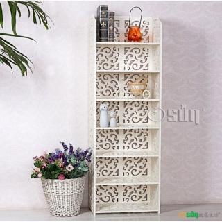 【Osun】DIY木塑板置物架 歐式白色雕花七層巴洛克經典款(CE-178-12040)