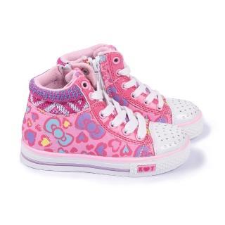 【三麗鷗】Hello Kitty中大童水鑽中筒帆布鞋(714877-粉)