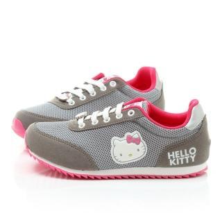 【三麗鷗】Hello Kitty女款 輕量透氣運動鞋(914124-灰)