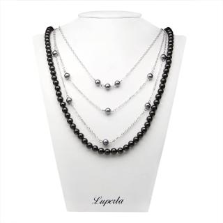 【大東山珠寶】可變換3+1層次款 南洋貝寶珠長版項鍊(黑)