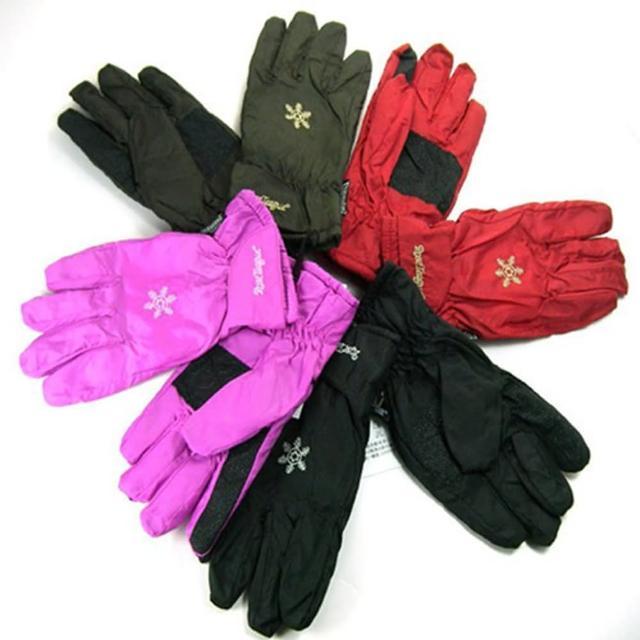 新款彩樣防水保暖防滑手套-女