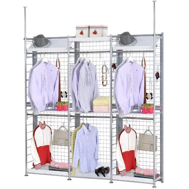 【巴塞隆納】K333型伸縮屏風衣櫥架展示架置物架