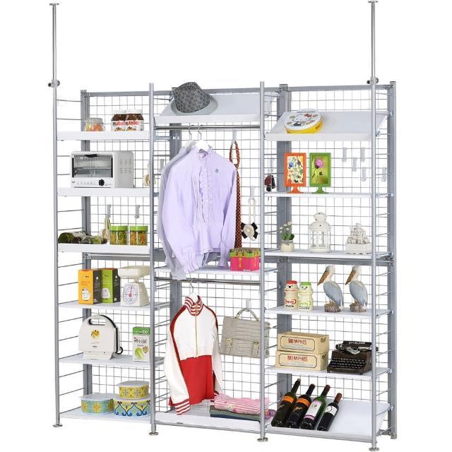 【巴塞隆納】K663型伸縮屏風衣櫥架展示架置物架