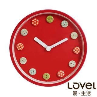 【LOVEL】童趣水果糖鋁框靜音兩用時鐘16cm(A736FL-PK)