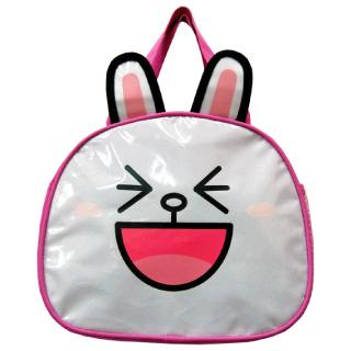 【LINE FRIENDS】造型便當袋(桃 可愛兔兔)
