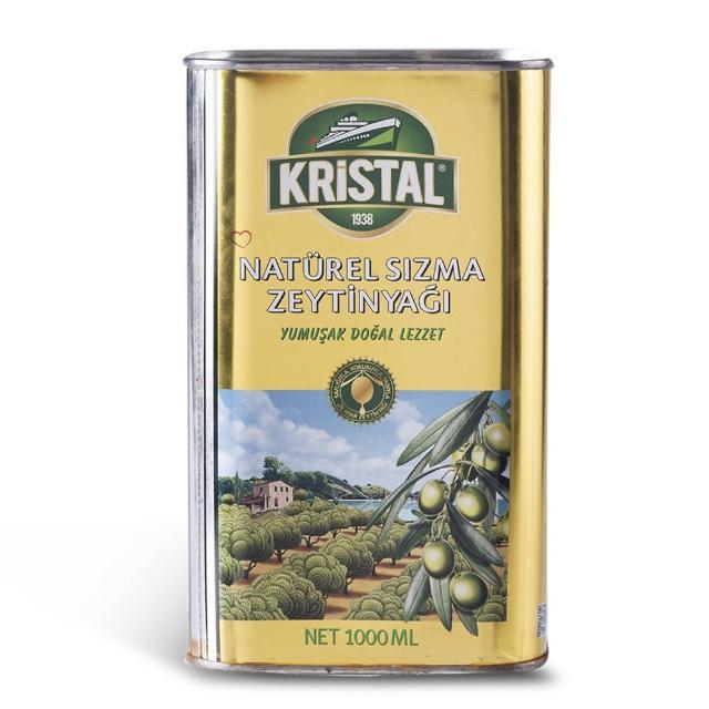 【買一送醬油 Ecolife綠生活 KRISTAL】純天然頂級第一道初榨冷壓橄欖油(三瓶一組金黃色錫瓶包裝)