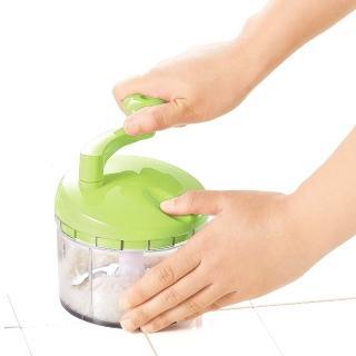 【日本製造】Shimomura漾彩蔬果研磨絞碎器(蘋果綠)